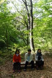 森に包まれての瞑想。