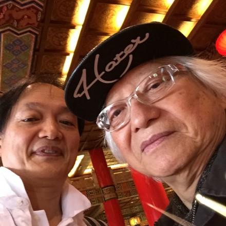 コーさんとの自撮り。 台湾で。